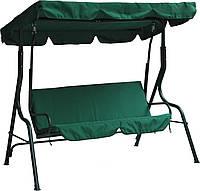 Качели садовые с тентом Ranger Relax Green, недорого диван-качели для дачи, садовая уличная качель, зелёный.