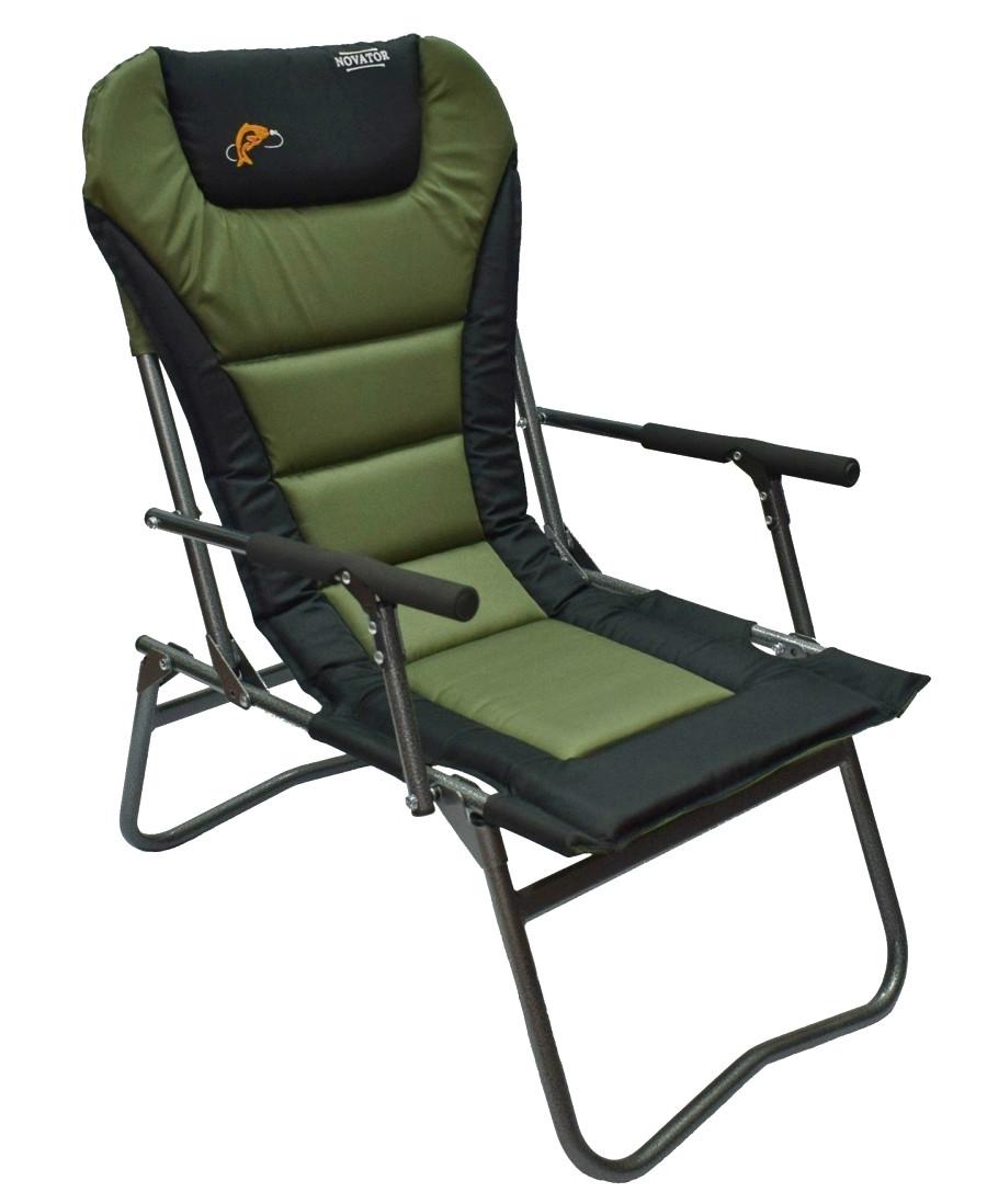 Кресло рыболовное складное Novator SF-4 Comfort мягкое (Кресло для рыбалки туристическое кресло)