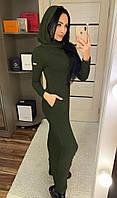 Женское Ангоровое Платье с капюшоном, фото 1