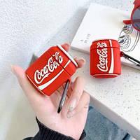 Силиконовый противоударный чехол - Airpods Apple.Coca-Cola
