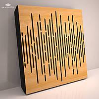 «Wave Panel» 70 мм (50*50 см) звукопоглощающая акустическая панель. Цвет: дуб