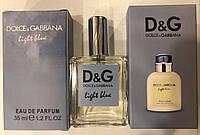 Мужской мини-парфюм Dolce & gabbana light blue pour homme 35 мл
