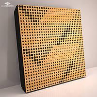 «Wilds» 70 мм (50*50 см) звукопоглощающая акустическая панель. Цвет: дуб