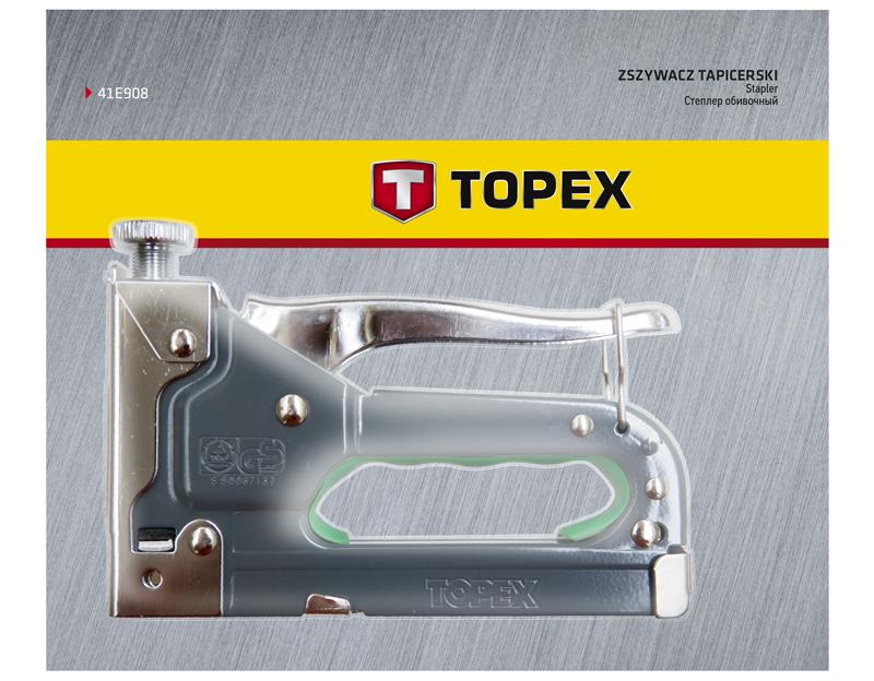 Степлер 6-14 мм, скобы G, 41E908, Topex