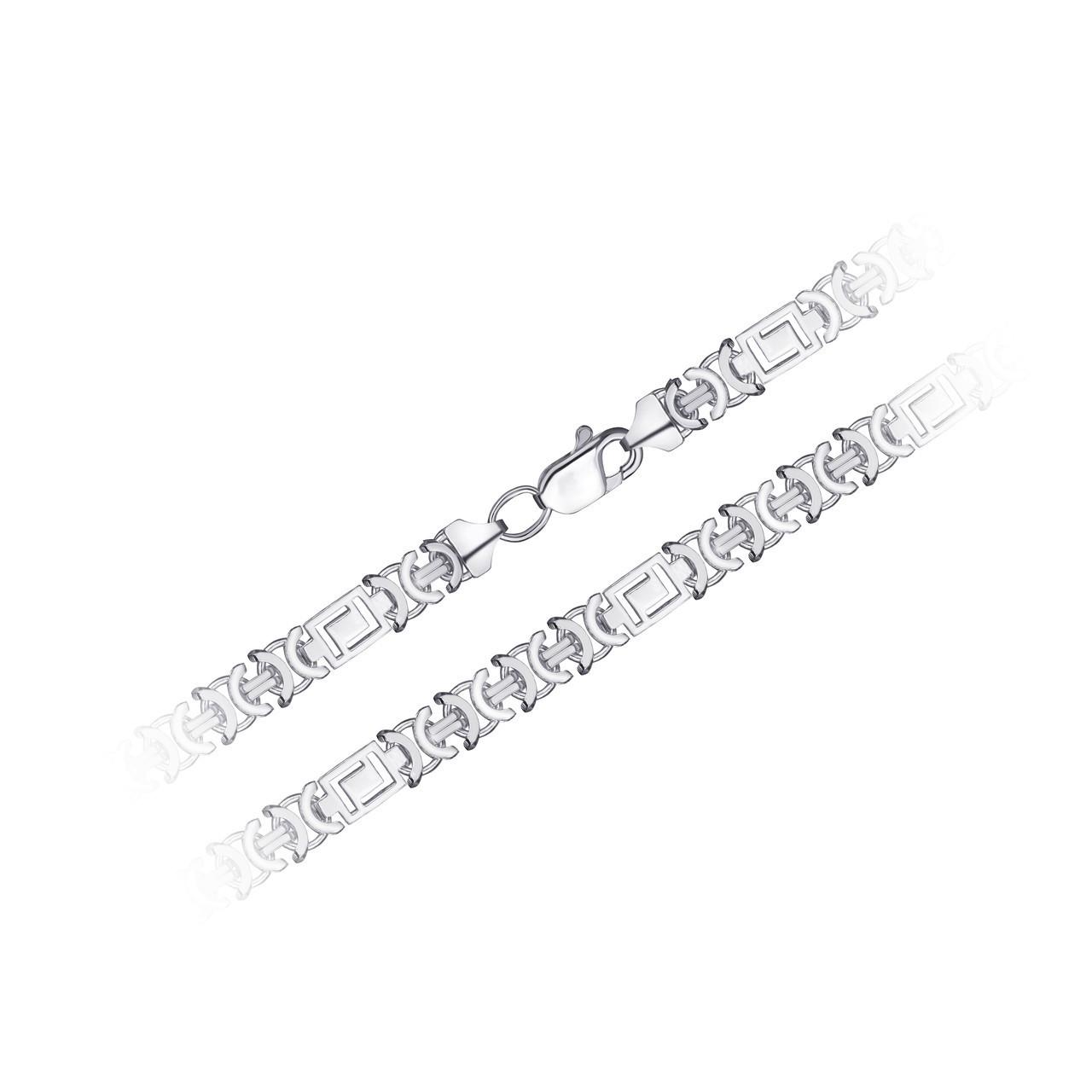 Родированный Серебряный браслет GS  VERSACE (ВЕРСАЧЕ) 17 см