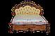 Кровать резная из массива ручной работы белая, фото 2