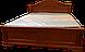 Кровать резная из массива ручной работы белая, фото 5