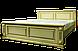 Кровать резная из массива ручной работы белая, фото 6
