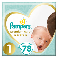 Подгузники Pampers Premium Care Newborn 1 (2-5 кг), 78 шт.