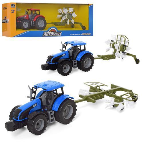Трактор дитячий AS-2017 АвтоСвіт інерційний з причепом 41 см