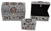 Сундуки с камнями набор (3шт)(33х23х23 см 27х17х17 см 18х12х12 см)