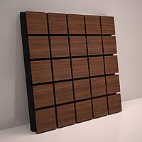 «Grid» 50 мм (50*50 см) звукопоглощающая акустическая панель. Цвет: орех, фото 1