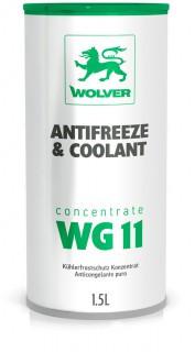 Высококачественный концентрат охлаждающей жидкости Wolver Antifreeze Concentrate WG11 Green