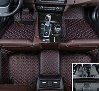 Автомобильные коврики 3D кожаные 2в1 + коврик антигрязь для BMW X5 E53 1999 2000 2001 2002 2003 2004 2005 2006