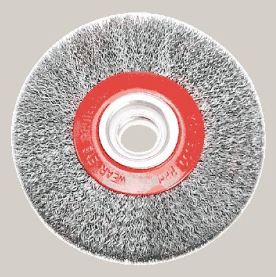 Щітка дискова 125мм*20мм, рифлений дріт, стальна, 62H210, Verto