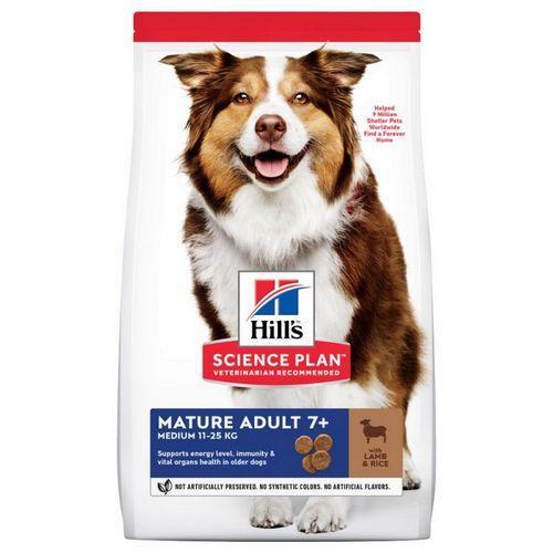 Корм для собак hill's HILLS Mature Adult 7+ Lamb and Rice 14 кг для пристарілих собак з ягням і рисом