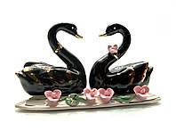 Статуэтка Super Hit Черные лебеди пара фарфор(13,5х7х4,5 см)