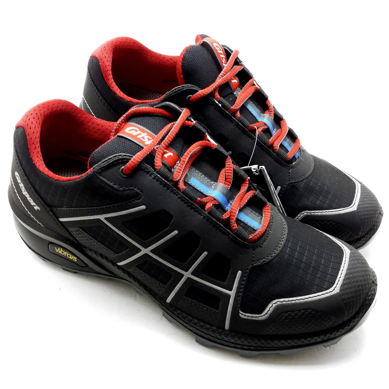 Трекинг кроссовки мужские Grisport черные с красным