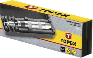 Викрутка ударна, набір 7 шт., 39D556, Topex