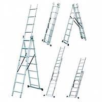 Лестница универсальная трансформер 3х7 ступ, 2.95 м, Werk LZ3207BQ (35273)