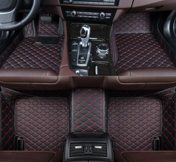 3D коврики для Volkswagen Tiguan 2016 - 2018 (европеец) кожаные с высокими бортиками
