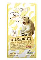 Молочный шоколад CACHET Tanzania | Milk chocolate 40% cacao with Banana and Fudge | Банан и ирис 180 г