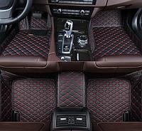 3D коврики для Volkswagen Golf 7 (европеец) 2012 - 2018 кожаные с высокими бортиками, фото 1