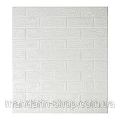 Самоклеющиеся обои Декоративная 3D панель ПВХ 1 шт, белый кирпич 5 мм