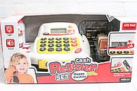 Кассовый аппарат, на батарейках, калькулятор, продукты, звук/свет, фото 1