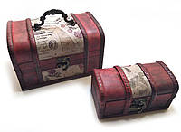 Сундучки набор 2 шт. (18х11х12 см 14х7,5х7 см)