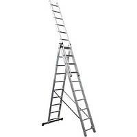 Лестница универсальная трансформер 3х10 ступ, 4.20 м, Werk LZ3210B (35276)