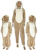 NEW! Новые забавные модели кигуруми для детей и подростков -  Зайчик коричнево-молочный ТМ УКРТРИКОТАЖ!