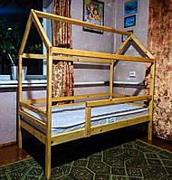 Односпальная кровать с домиком для ребенка