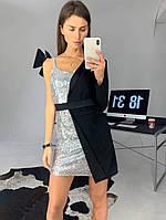 Вечернее платье пиджак-пайетка