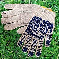 Перчатки синяя капля