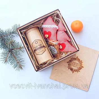 Набір подарунковий №4 подарочный набор с иван-чаем, игрушкой и сладостями