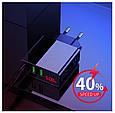 Зарядний для швидкого заряджання USB-пристроїв з LED дисплеєм, 3 порти, фото 3