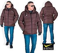 Мужская зимняя куртка с лампасами