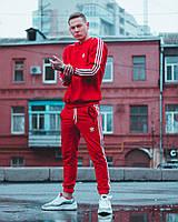 Спортивный костюм мужской в стиле Adidas CL X RED | весенний осенний  ЛЮКС
