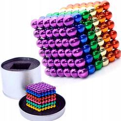 Магнитная головоломка-конструктор радуга Неокуб Neocube цветной 216 шариков 5мм в боксе