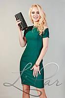 Женское прямое приталенное платье Lipar Зеленое