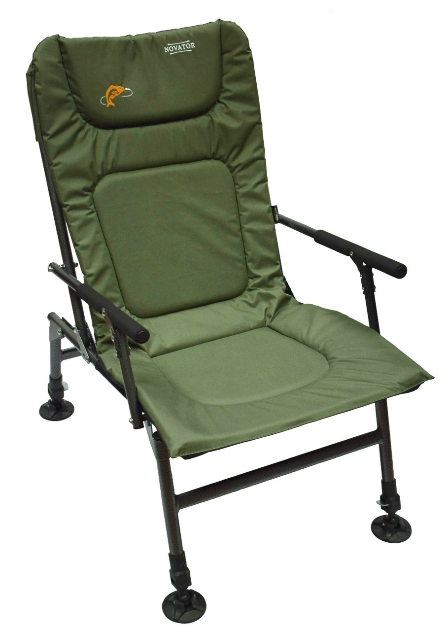 Крісло риболовне складне Novator SF-1 (Крісло для риболовлі, туристичне крісло, коропове крісло)