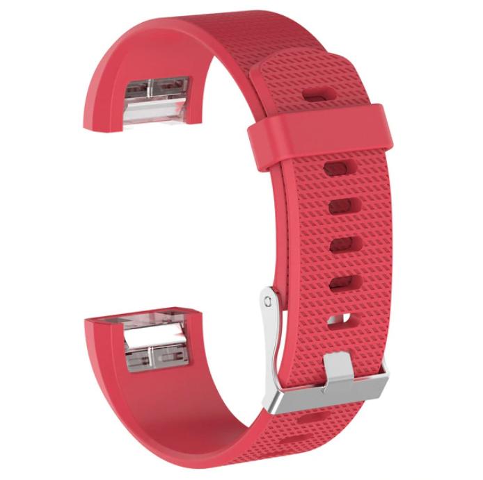 Силиконовый ремешок Primolux для фитнес браслета Fitbit Charge 2 - Red S