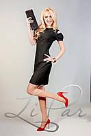 Женское прямое приталенное платье Lipar Черное