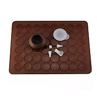 "Набор для ""Macarons"" коврик + шприц с насадками, фото 1"