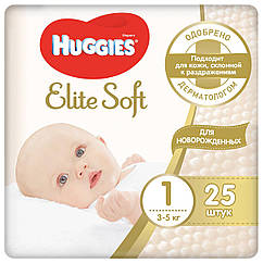 Подгузники Huggies Elite Soft Джамбо (1) 3-5 кг 25шт (Хаггис)