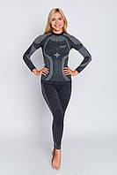 Комплект женского термобелья с шерстью мериноса HASTER MERINO WOOL зональное бесшовное шерстяное XXL, Серый