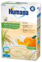 Безмолочная каша Humana Рисовая с тыквой, 200 г