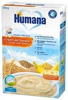 Молочная каша Humana 5 злаков с бананом, 200 г