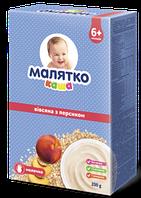 Молочная каша Малятко овсяная с персиком, 200 г